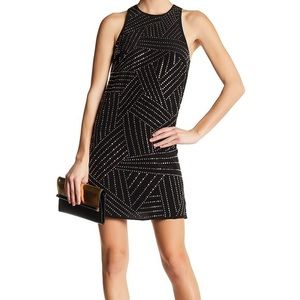 Trina Turk Galina Faceted Silk Stud Dress